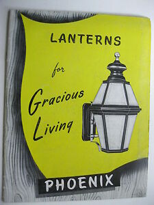 1950's PHOENIX LANTERNS,OUTDOOR & INDOOR LIGHTING FIXTURES 24 PAGE CATALOG