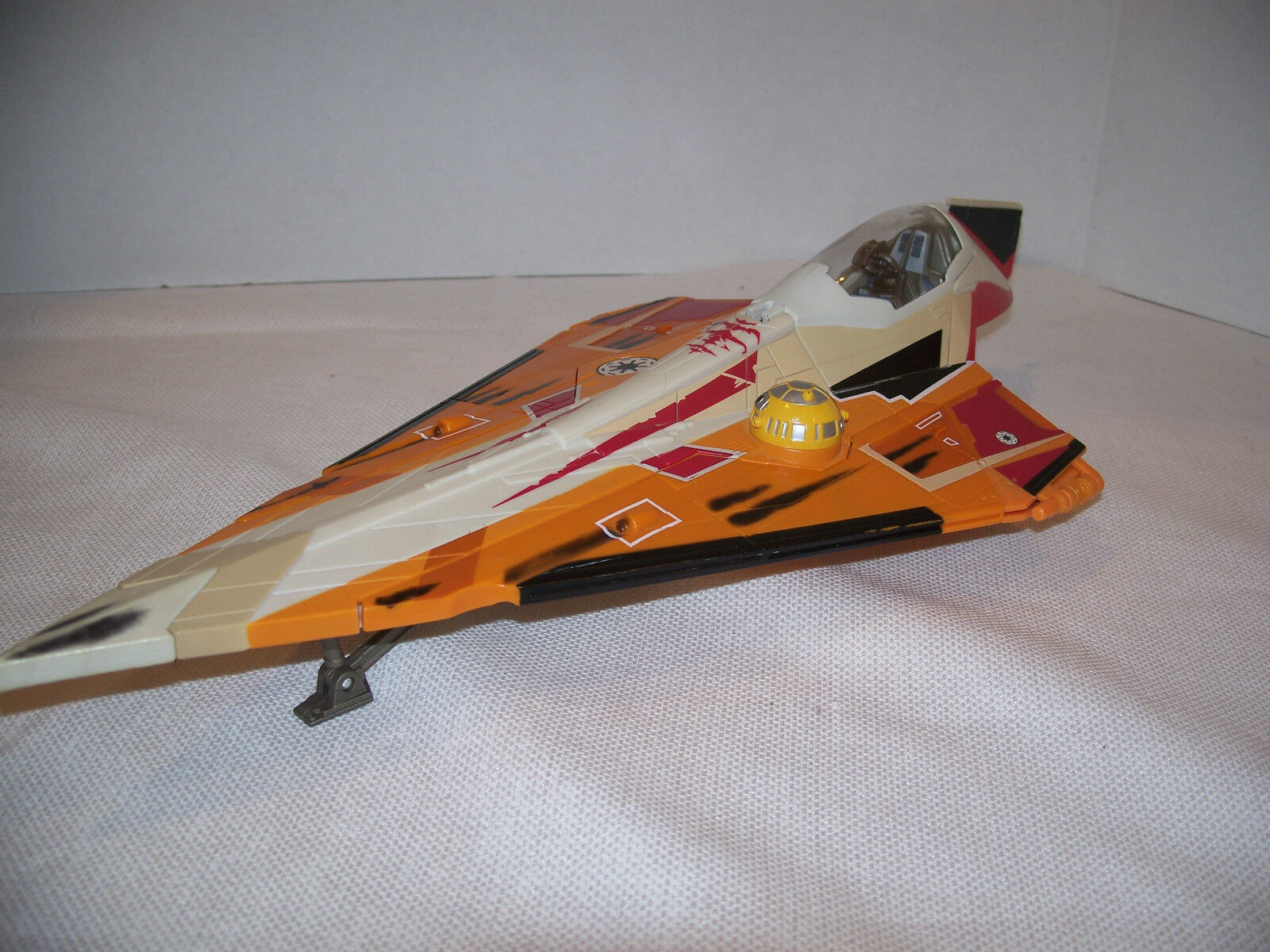 Star Wars Saga Clone ship vehicle jedi starfighter fighter 2001 hasbro lucas 16