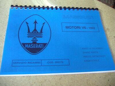 MASERATI Motori V 6   Ersatzteilkatalog  Parts Manual 222S 222SR Racing Ghibli
