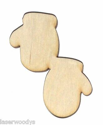 Pair of Mittens Unfinished Wood Shape Cut Out PM8066 Crafts Lindahl Woodcrafts