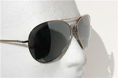 Large Gold Aviator Sunglasses with Silver Mirror Lens