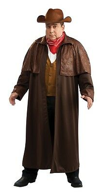 Cowboy Western Sheriff Outlaw Fancy Dress Up Halloween Adult Costume Plus Size