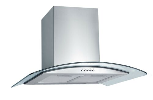 60cm Glass & Stainless chimney cooker hood extractor EC2516A-S