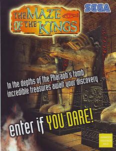 SEGA-THE-MAZE-OF-THE-KINGS-ORIGINAL-NOS-VIDEO-ARCADE-GAME-FLYER-BROCHURE-2001