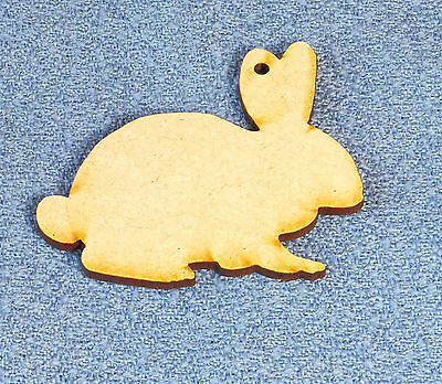 10 x Wooden MDF Easter Rabbits Chicken Egg Craft Shapes Blanks stencils