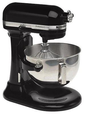 Kitchenaid Stand Mixer 475 -W 10-Speed 5-Quart Kg25h0XOB Black Professional HD