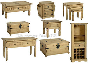Corona-Solid-Waxed-Pine-Coffee-Lamp-Console-Nest-Table-Chest-Wine-Rack
