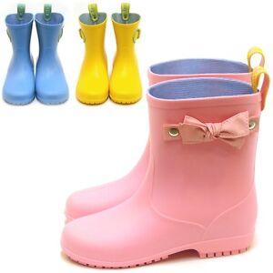 Ribon-Belt-Rain-Boots-Kid-Girls-Boys-for-Shoes-Cheap-Waterproof-3Color-Size-10-4