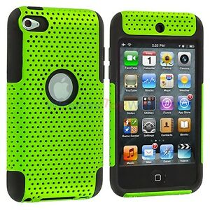 Green-2-Piece-Hybrid-Case-Cover-for-iPod-Touch-4th-Gen-4G-4