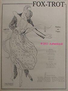 publicite parfum arys fox trot danse bouquet extrait art. Black Bedroom Furniture Sets. Home Design Ideas