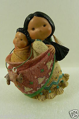 Friends of Feather by Enesco 1994 Bearing Lots os Love Mom w Papoose  Figurine