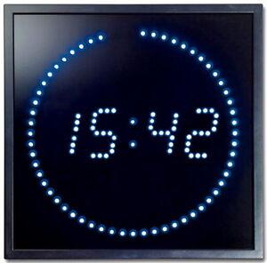 multi led wand uhr digitale gro e anzeige digital 143 blau led s digitaluhr neu ebay. Black Bedroom Furniture Sets. Home Design Ideas