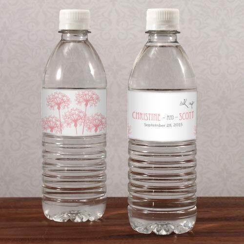100 Dandelion Wishes Water Bottle Labels Bridal Shower Wedding Favors