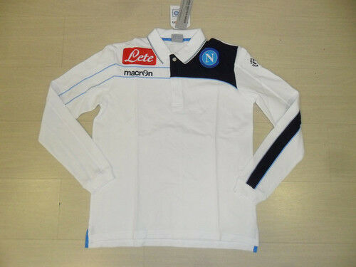 0939 MACRON SIZE S NAPOLI POLE COTTON LONG SLEEVE TSHIRT MATCH SHIRT JERSEY