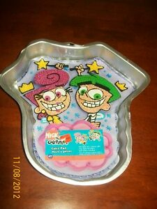 Details about WILTON VINTAGE THE FAIRLY ODD PARENTS CAKE PAN +INSERT  -DISCONTINUED