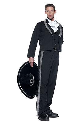 ADULT MARIACHI SPANISH MEXICAN HISPANIC FIESTA COSTUME W/ SOMBRERO CINCO DE MAYO