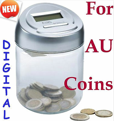 Digital money coin jar counting saving bank gift treat FOR Au coins