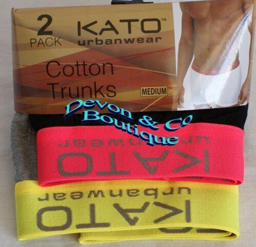 Men/'s Kato Urbanwear 95/% Cotton Neon Trunks Sizes S,M,L,XL /& XXL 2 pairs
