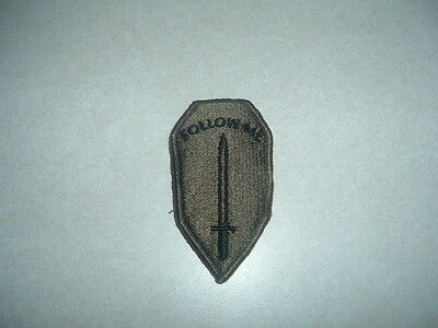 GENUINE MILITARY PATCH US ARMY INFANTRY SCHOOL SUBDUED OD GREEN NEW OLD STOCK