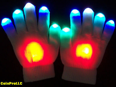 FIRE and ICE Led Rave Glove set / Glove Lights for Light Shows / toys gear