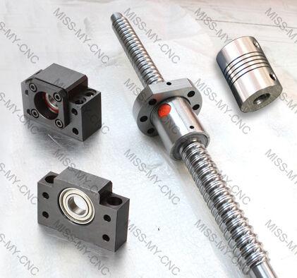 1 of anti backlash ballscrew RM2005-750mm +1 set BK/BF15+ 1 coupling 8*12mm