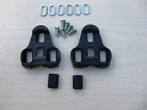 Schuhplatten für Look Keo schwarz 0° Pedalplatten Cleats Sohlenplatten