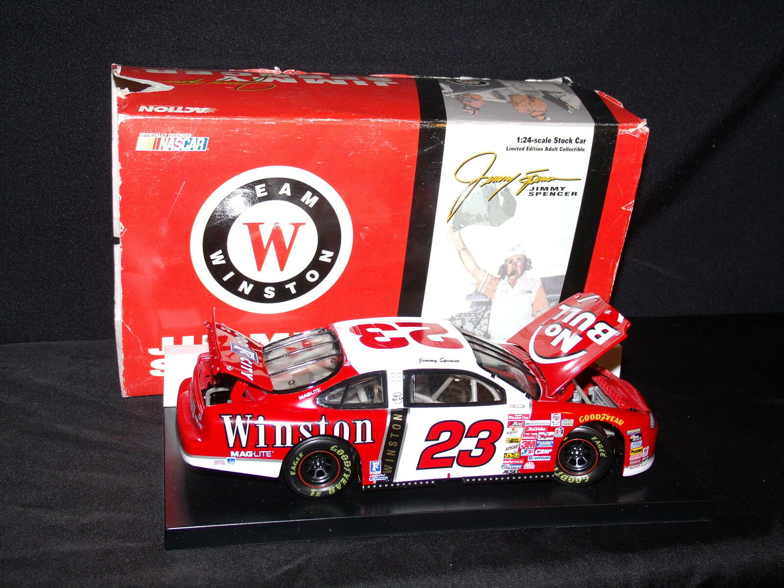 JIMMY SPENCER 99 WINSTON NO FORD BULL FORD NO TARUS ACTION RACING COLLECTABLES NIP NR b79845