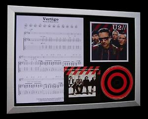 U2-Vertigo-LTD-NOD-QUALITY-CD-FRAMED-DISPLAY-EXPRESS-GLOBAL-SHIP