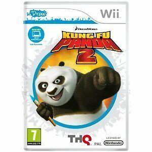 Nintendo Wii KUNG FU PANDA 2 uDraw Game AS NEW Free Post