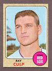 1968 Topps Ray Culp Boston Red Sox #272 Baseball Card