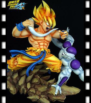 Dragonball KAI GOKU VS FREEZA BATTLE SCENE  Resin Statue Diorama NEW