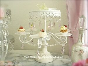 shabby chic wedding cake stand uk shabby pink prism white chic cupcake wedding 19770