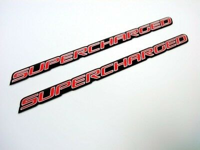FORD MUSTANG SHELBY GT500 SUPERCHARGED HOOD EMBLEMS RED