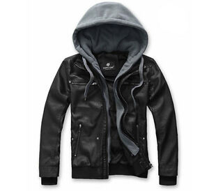 Mens-Slim-Top-Designed-Cotton-PU-Leather-Hoody-Jacket-Coat-S1115-black-XS-S-M-L