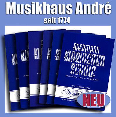 BAERMANN KLARINETTENSCHULE_KOMPLETT 502A - 502F (6 HEFTE) KLARINETTE_ANDRÉ NOTEN