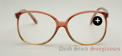 """TRUE AUTHENTIC VINTAGE Womens """"Reading Glasses"""" Tan & Clear"""