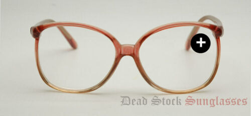 "TRUE AUTHENTIC VINTAGE Womens ""Reading Glasses"" Tan & Clear"