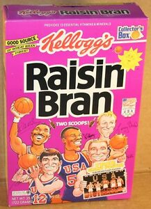Raisin Bran Cereal Box, 1992 Olympic Basketball Team, 12 Oz Box
