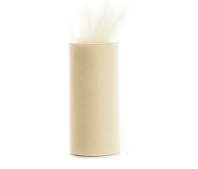 """Tulle 6"""" x 25 yds ( 6""""x 75 ft ) spool roll gift bow wedding decoration tutu"""