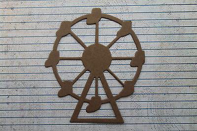 "2  Bare/Unfinished diecut chipboard ferris wheel die cuts 4 1/8"" x 4 3/4"""