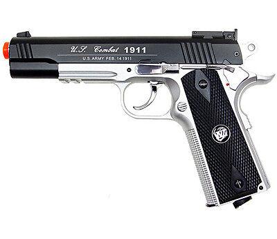 500 FPS NEW WG AIRSOFT FULL METAL M 1911 GAS CO2 HAND GUN PISTOL w/ 6mm BB BBs