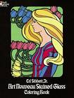 Art Nouveau Stained Glass Coloring Book by Ed Sibbett (Paperback, 1978)
