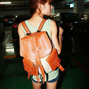 Womens-Fashion-Canvas-Faux-Leather-Backpack-Handbag-Purse-A66