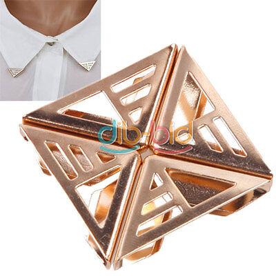 1Pair Stud Earring Spike Stud Triangle Shirt Collar Brooch Tips Clip Pin 14 KZ