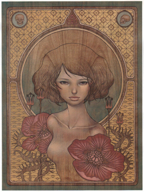 "Audrey Kawasaki I Know unframed Magazine Page 7""x 9"" Frame it anyway you want!"
