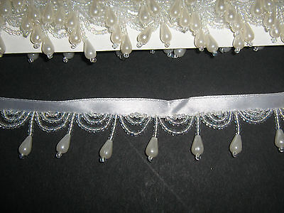 Pearl Beaded Fringe/Trim   Sewing/Costume/Crafts/Corsetry