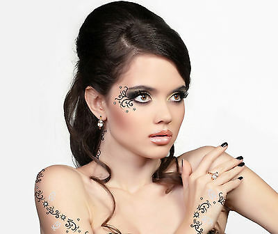 Addttoo Party Eyes Temporary Tattoo Face Gem Transfer Swarovski Crystal Body Art