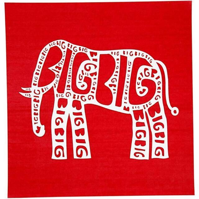 20cm Elephant Flexible Screen Printing Stencil Textile/Cushion/Fabric Craft