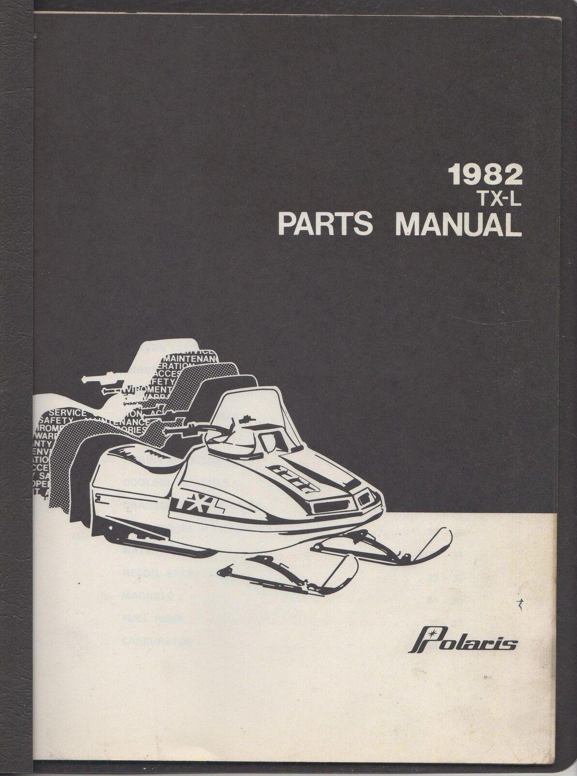 1982 POLARIS SNOWMOBILE TX-L PARTS MANUAL