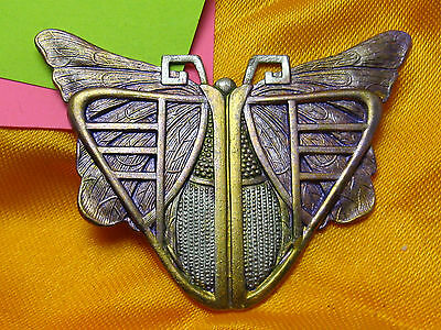 FRENCH ART NOUVEAU BUTTERFLY PIN BROOCHES VINTAGE BROOCHES EGYPTIAN SCARAB